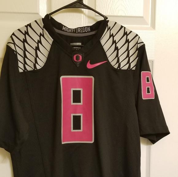 low priced da7a7 771fa OREGON DUCKS Breast cancer Jersey